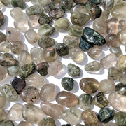 Green Hair Quartz Tumbled Stone - tumbledstone