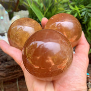 Orange Calcite - sphere