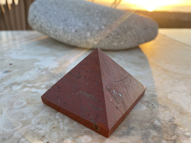 Red Jasper Pyramid (Size: Medium) - pyramids