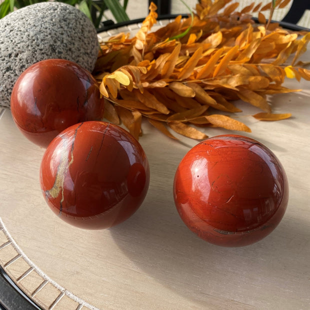 Red Jasper Sphere - sphere