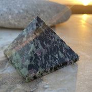 Ruby in Zoisite Pyramid (Size: Medium) - pyramids