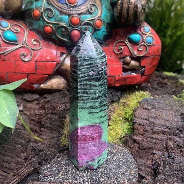 Copy of Ruby in Zoisite Wand - wand
