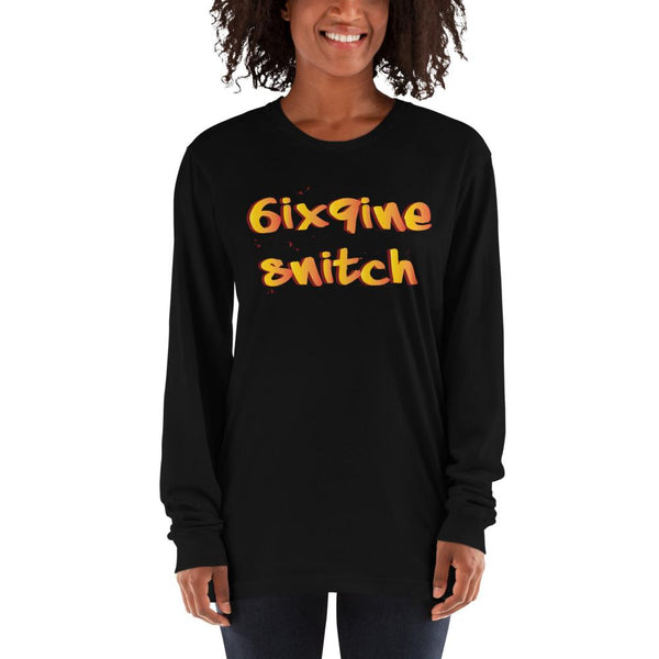 6ix 9ine Long Sleeve T-Shirt The Meme Store Black S