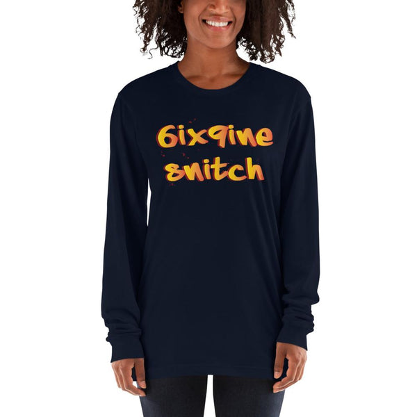 6ix 9ine Long Sleeve T-Shirt The Meme Store Navy S