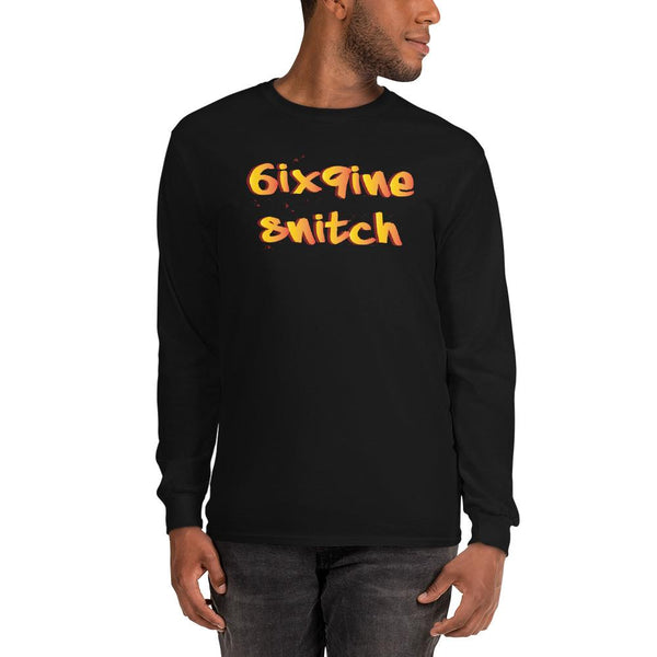 6ix9ine Snitching Long Sleeve Shirt The Meme Store Black S