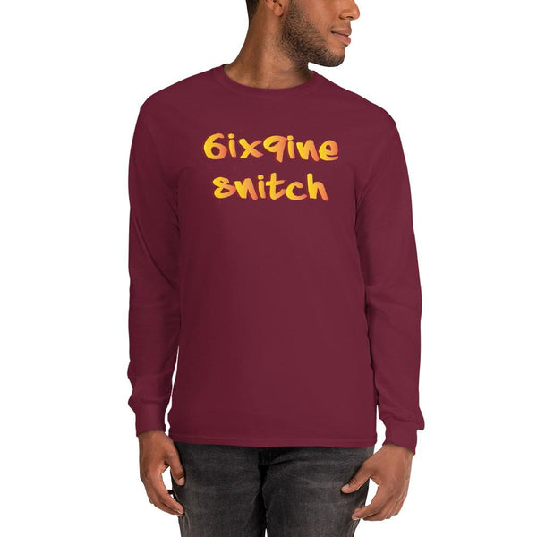6ix9ine Snitching Long Sleeve Shirt The Meme Store Maroon S