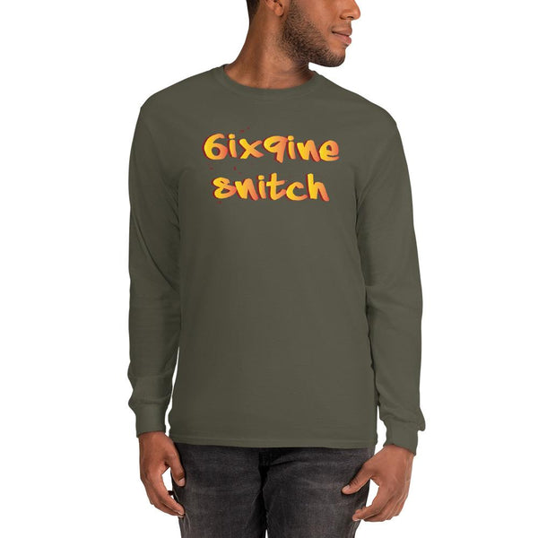 6ix9ine Snitching Long Sleeve Shirt The Meme Store Military Green S
