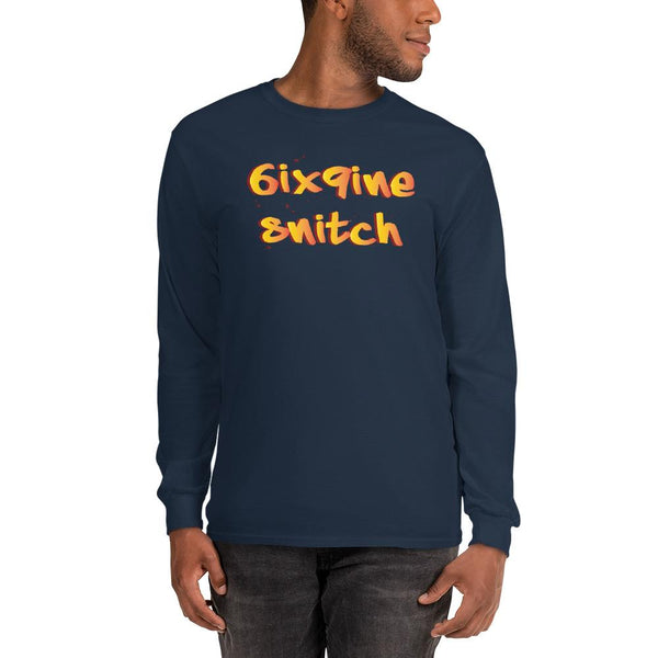 6ix9ine Snitching Long Sleeve Shirt The Meme Store Navy S