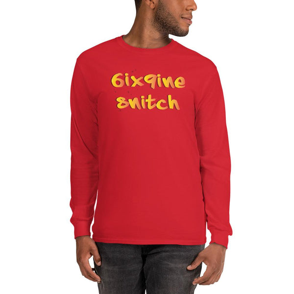 6ix9ine Snitching Long Sleeve Shirt The Meme Store Red S