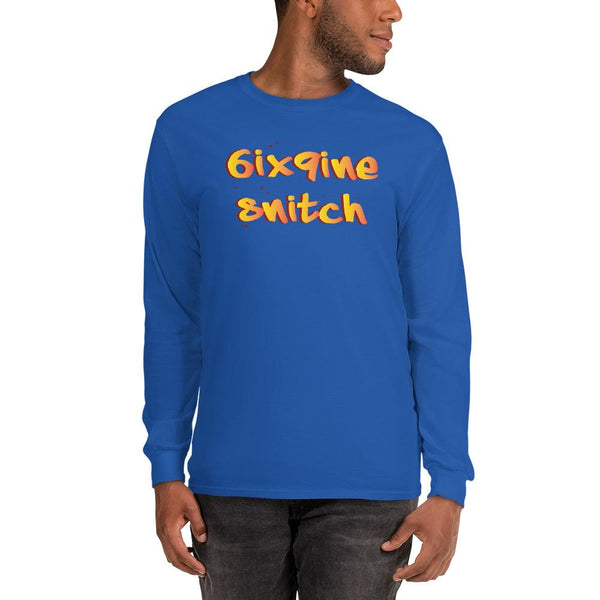 6ix9ine Snitching Long Sleeve Shirt The Meme Store Royal S