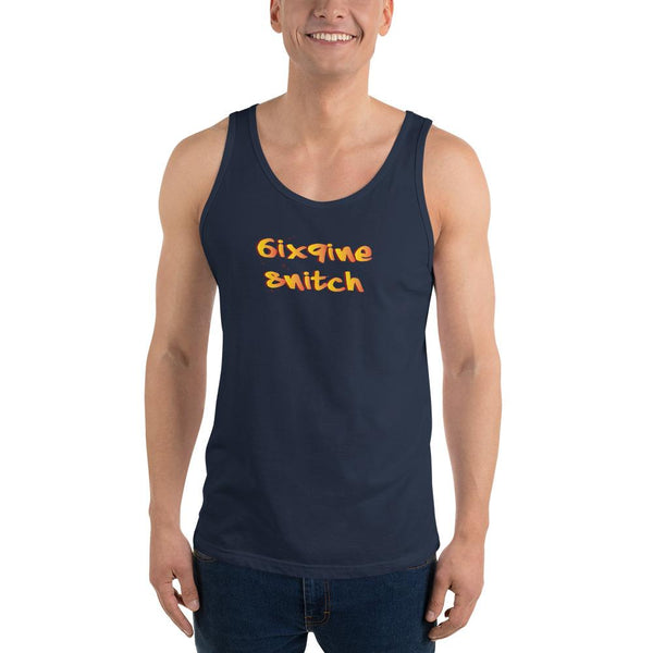 6ix9ine Snitching Tank Top The Meme Store Navy XS