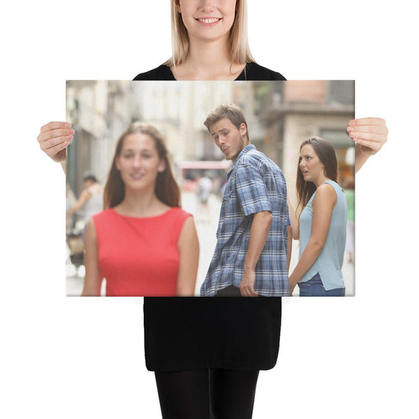Distracted Boyfriend Canvas shopyourmeme 18×24