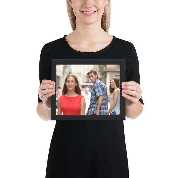 Distracted Boyfriend Framed Poster shopyourmeme Black 8×10