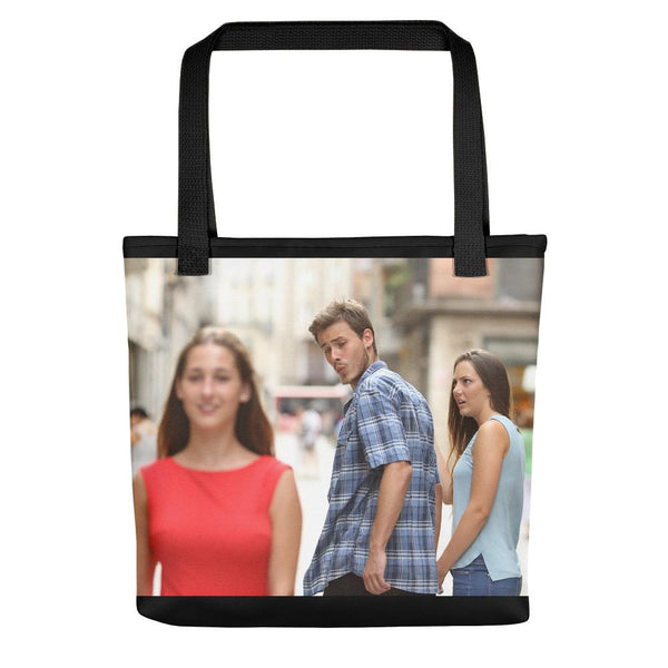 Distracted Boyfriend Tote Bag shopyourmeme