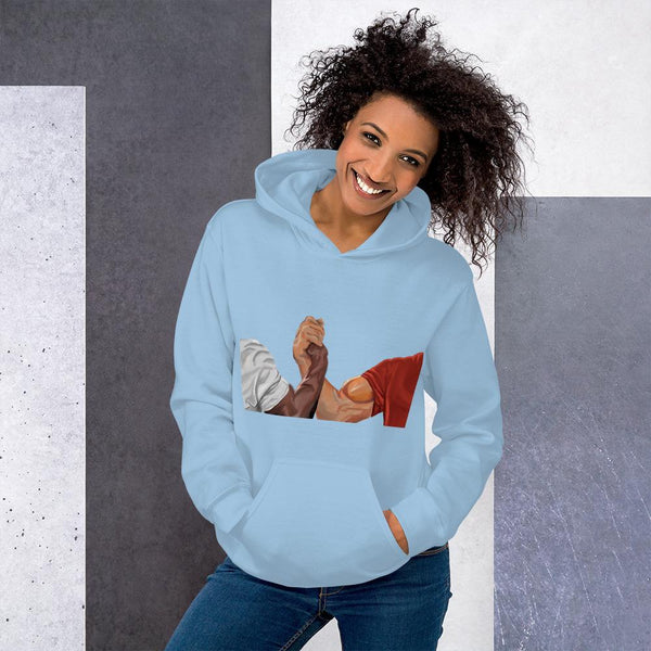 Epic Handshake Hoodie shopyourmeme Light Blue S