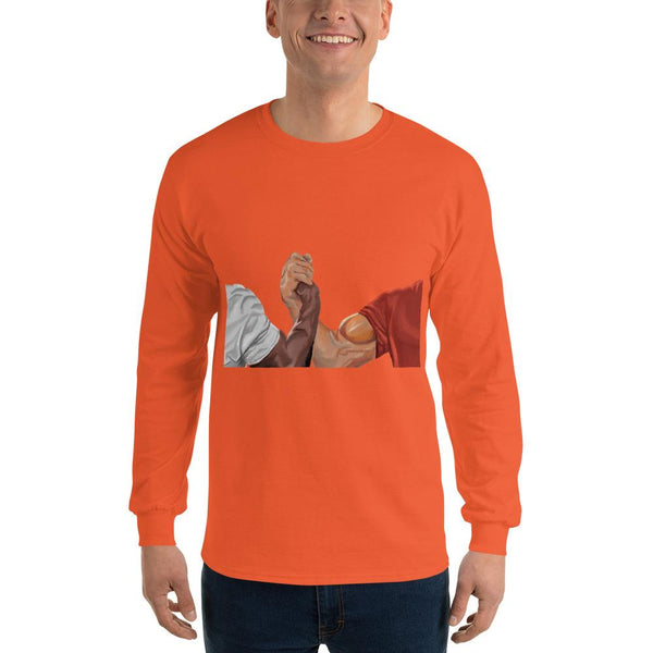 Epic Handshake Long Sleeve T-Shirt shopyourmeme Orange S