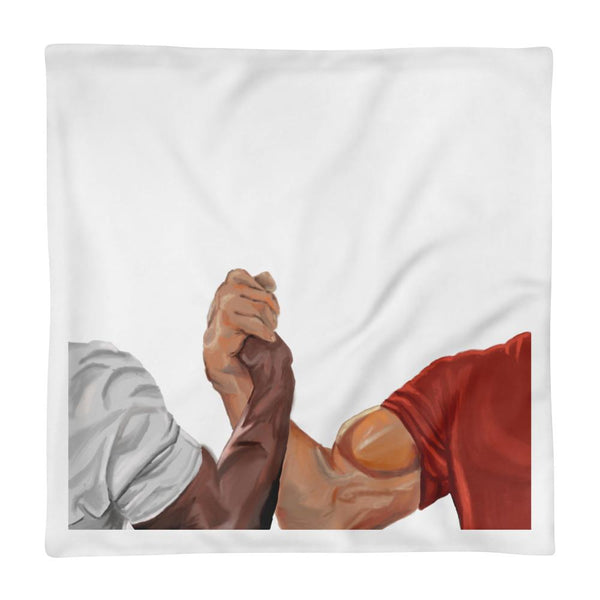 Epic Handshake Pillow Case shopyourmeme 18×18