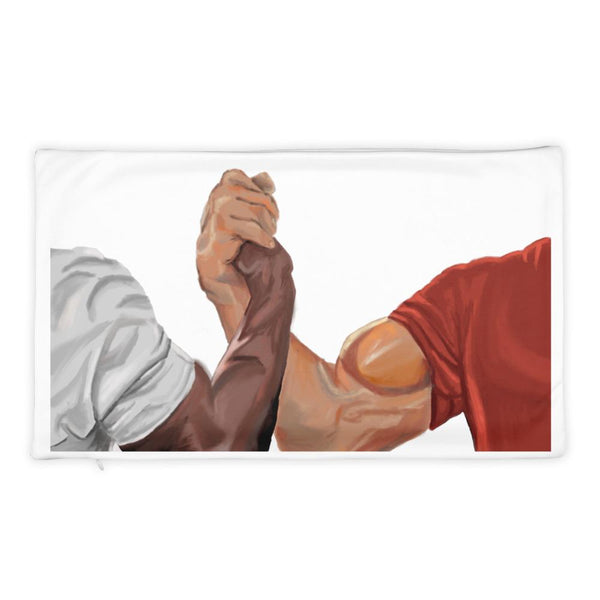 Epic Handshake Pillow Case shopyourmeme 20×12