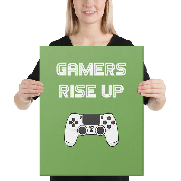 Gamers Rise Up Canvas shopyourmeme 16×20