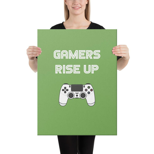 Gamers Rise Up Canvas shopyourmeme 18×24
