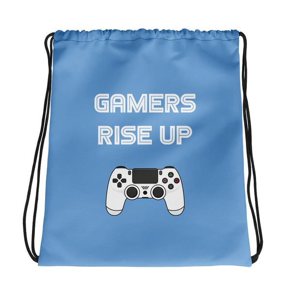 Gamers Rise Up Drawstring Bag shopyourmeme Default Title