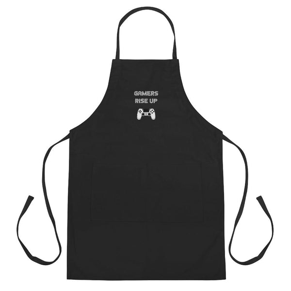 Gamers Rise Up Embroidered Apron shopyourmeme