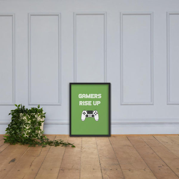 Gamers Rise Up Framed poster shopyourmeme