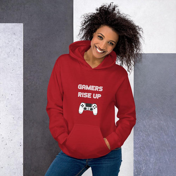 Gamers Rise Up Hoodie shopyourmeme Red S