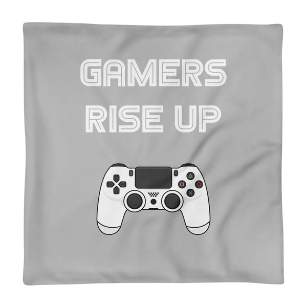 Gamers Rise Up Pillow Case shopyourmeme 18×18