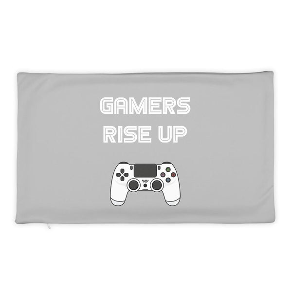 Gamers Rise Up Pillow Case shopyourmeme 20×12