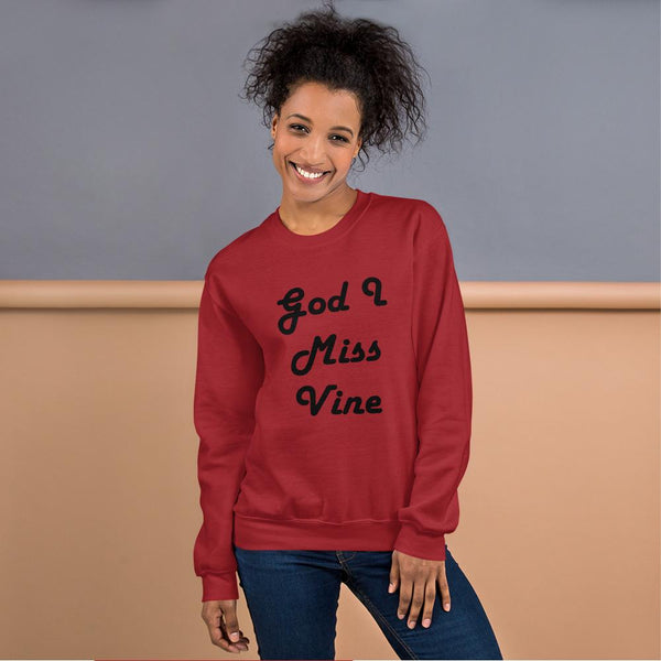 God I Miss Vine Sweatshirt shopyourmeme Red S