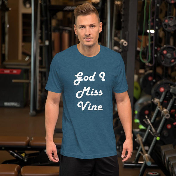 God I Miss Vine T-Shirt shopyourmeme Heather Deep Teal S