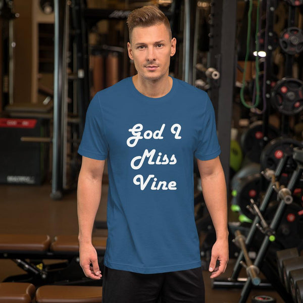 God I Miss Vine T-Shirt shopyourmeme Steel Blue S