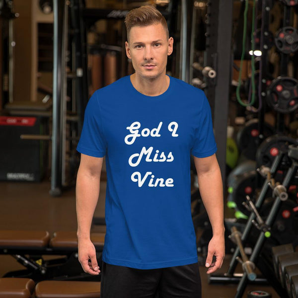 God I Miss Vine T-Shirt shopyourmeme True Royal S
