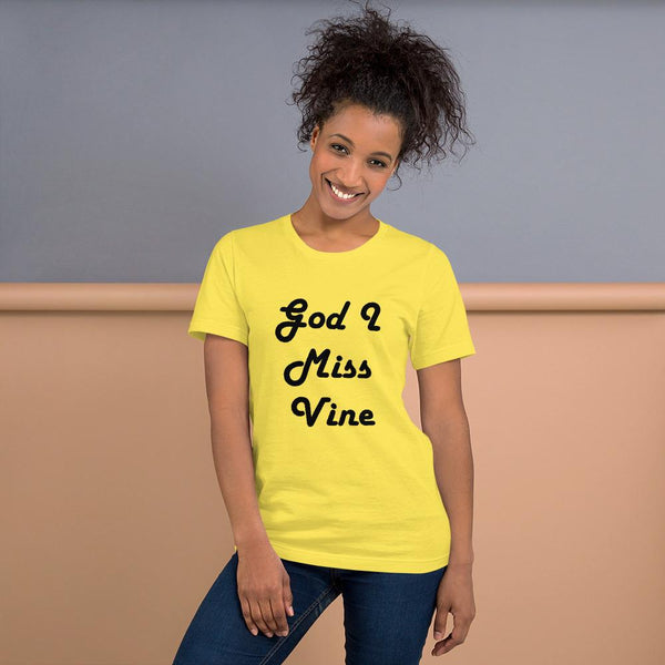 God I Miss Vine T-Shirt shopyourmeme Yellow S