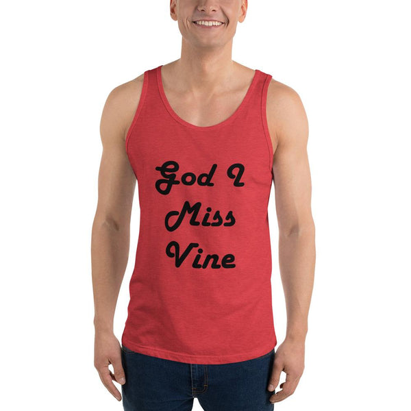 God I Miss Vine Tank Top shopyourmeme Red Triblend XS
