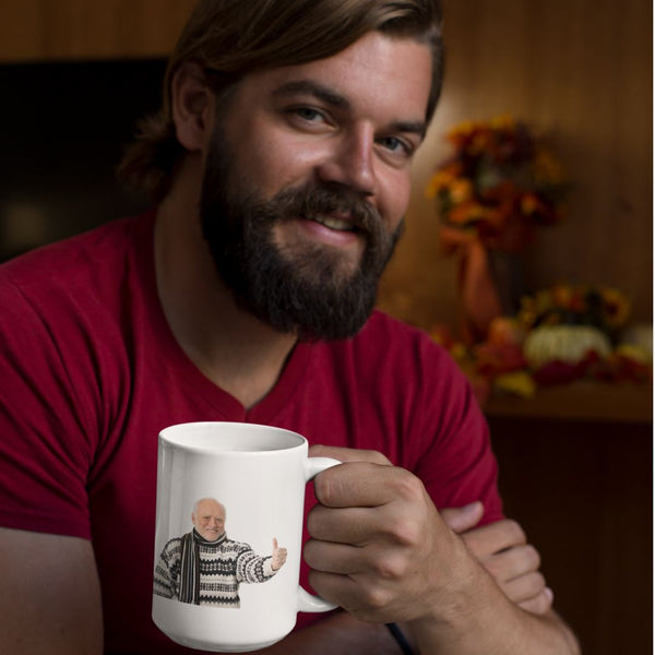 Hide The Pain Harold Mug shopyourmeme 15oz