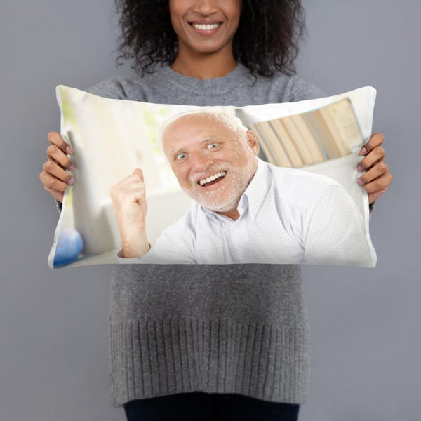 Hide the Pain Harold Throw Pillow shopyourmeme 20×12