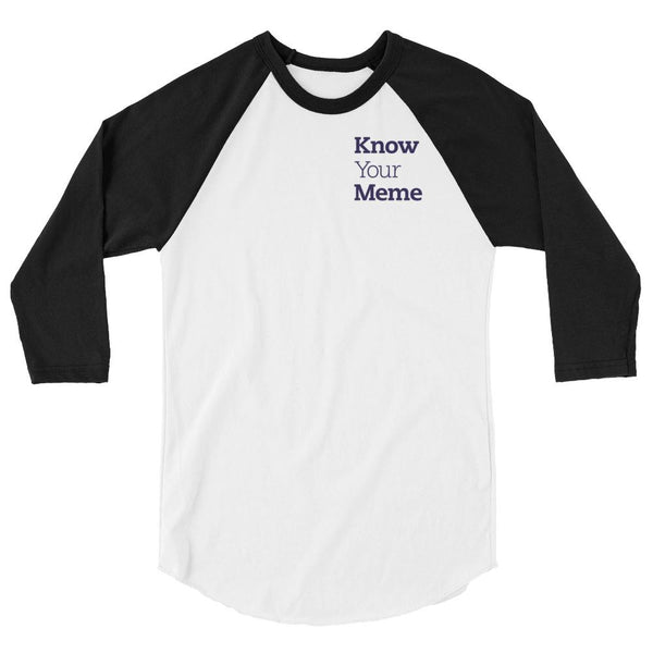 Know Your Meme 3/4 Sleeve Raglan Shirt shopyourmeme