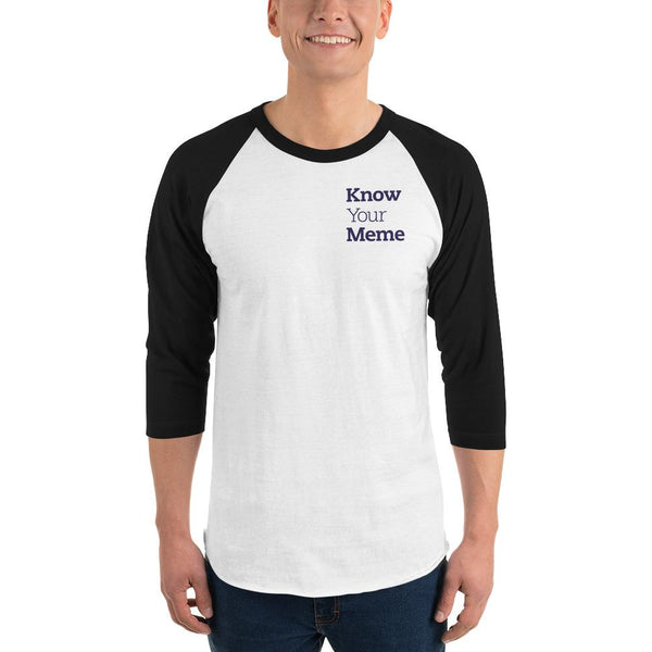 Know Your Meme 3/4 Sleeve Raglan Shirt shopyourmeme White/Black S
