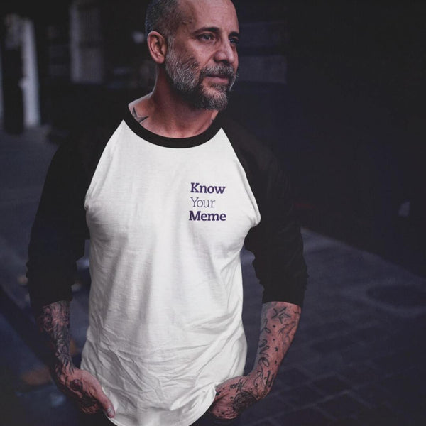Know Your Meme 3/4 Sleeve Raglan Shirt shopyourmeme White/Black XS