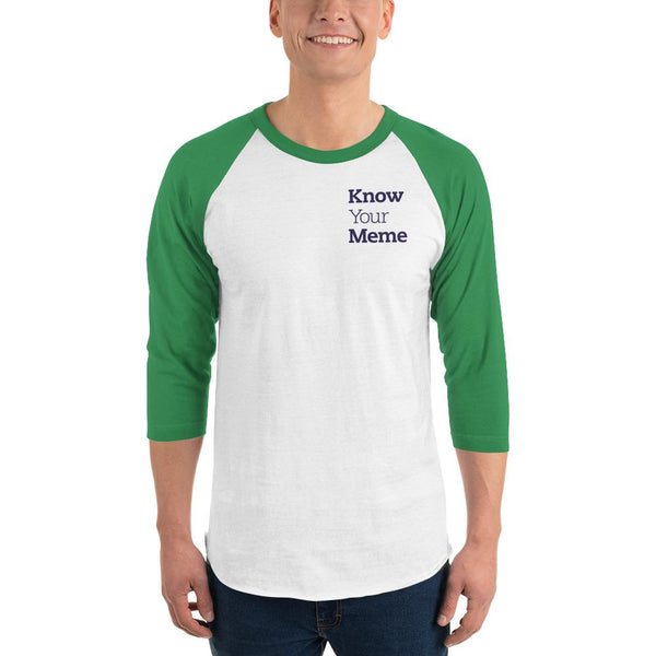 Know Your Meme 3/4 Sleeve Raglan Shirt shopyourmeme White/Kelly XS