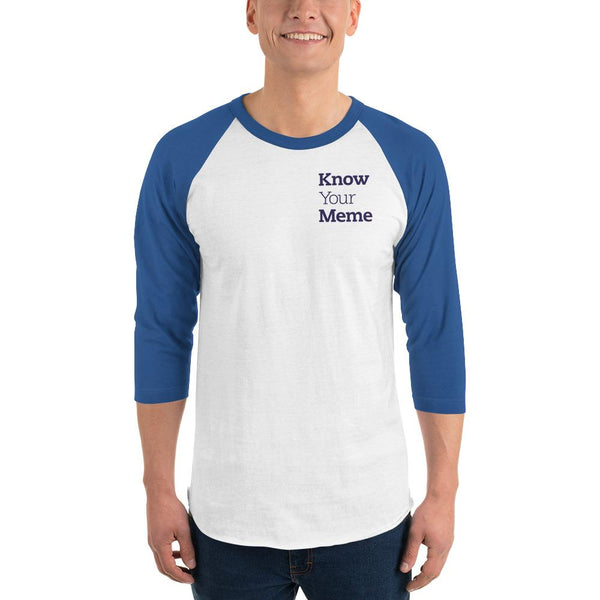 Know Your Meme 3/4 Sleeve Raglan Shirt shopyourmeme White/Royal XS
