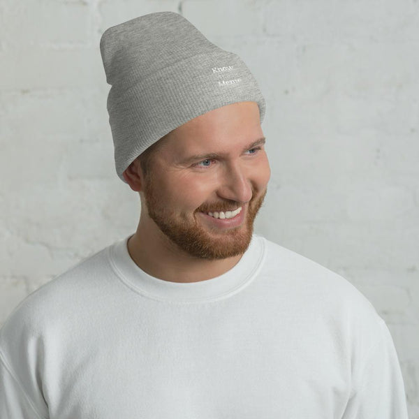 Know Your Meme Cuffed Beanie shopyourmeme Heather Grey