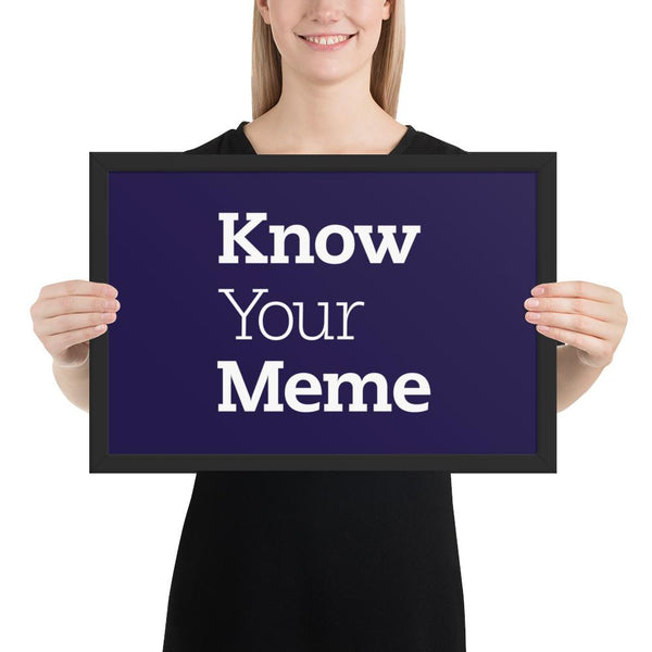 Know Your Meme Framed Poster shopyourmeme Black 12×18