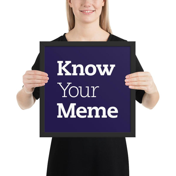 Know Your Meme Framed Poster shopyourmeme Black 14×14