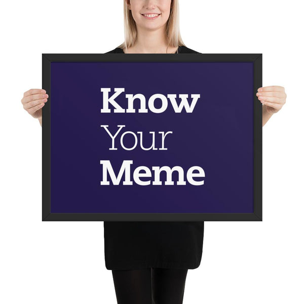 Know Your Meme Framed Poster shopyourmeme Black 18×24