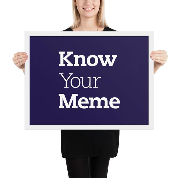 Know Your Meme Framed Poster shopyourmeme White 18×24