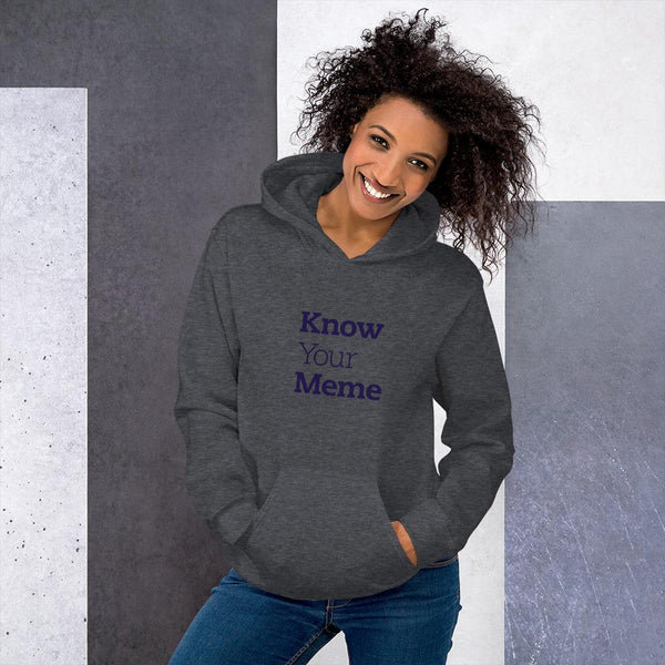 Know Your Meme Hoodie shopyourmeme Dark Heather S