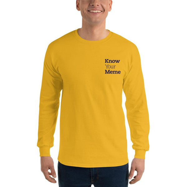 Know Your Meme Long Sleeve T-Shirt shopyourmeme Gold S
